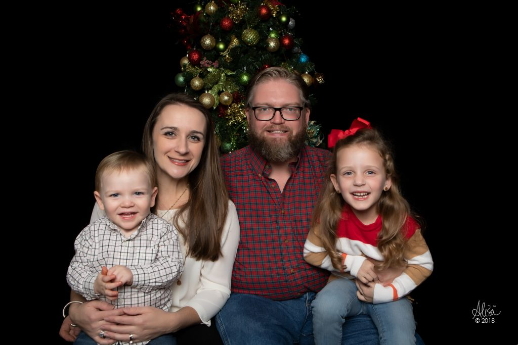 Amanda's family at Christmas
